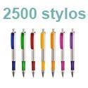 2500 stylos personnalisés